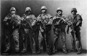 Equipe du SWAT, dessin