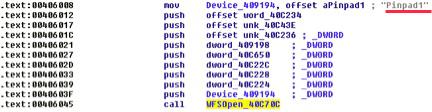 Connexion au clavier NIP