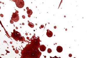 Trace de sang par expiration