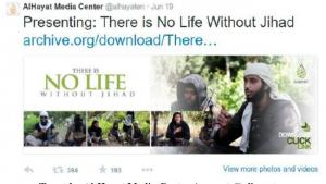 Tweet faisant la propagande du jihad