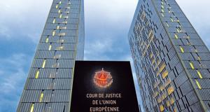 Façade de la Cour de Justice Europeene