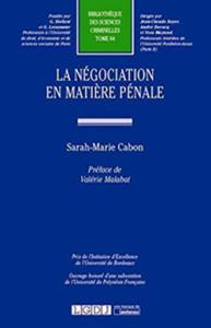 négociation pénale