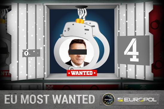 Europol criminels recherchés calendrier de l'avent
