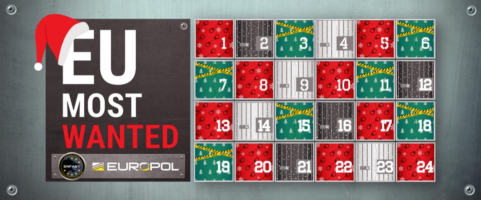 europol un calendrier de l 39 avent insolite crimexpertise. Black Bedroom Furniture Sets. Home Design Ideas