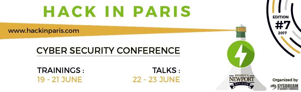 conférences cybersécurité 2017